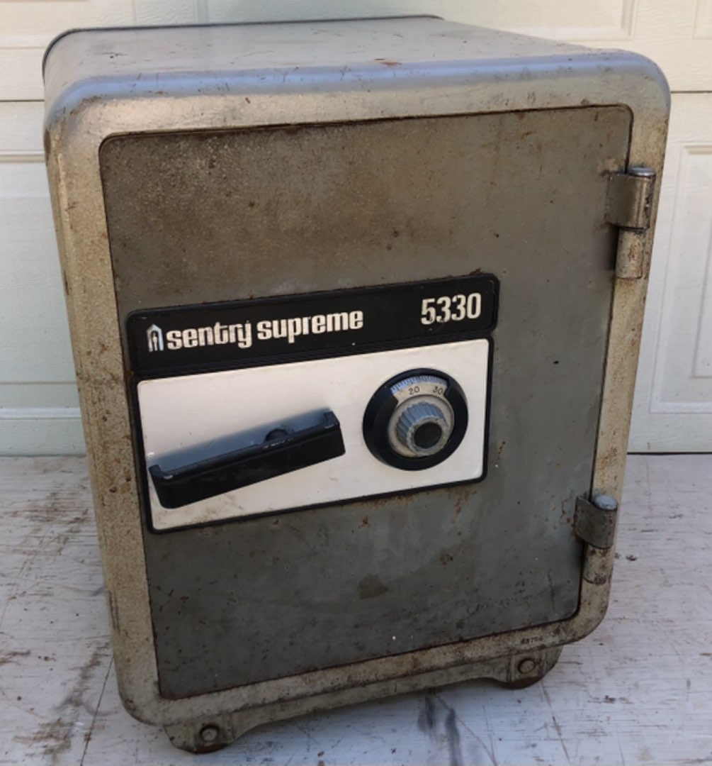 Lot # 37 -  Vintage Metal Safe