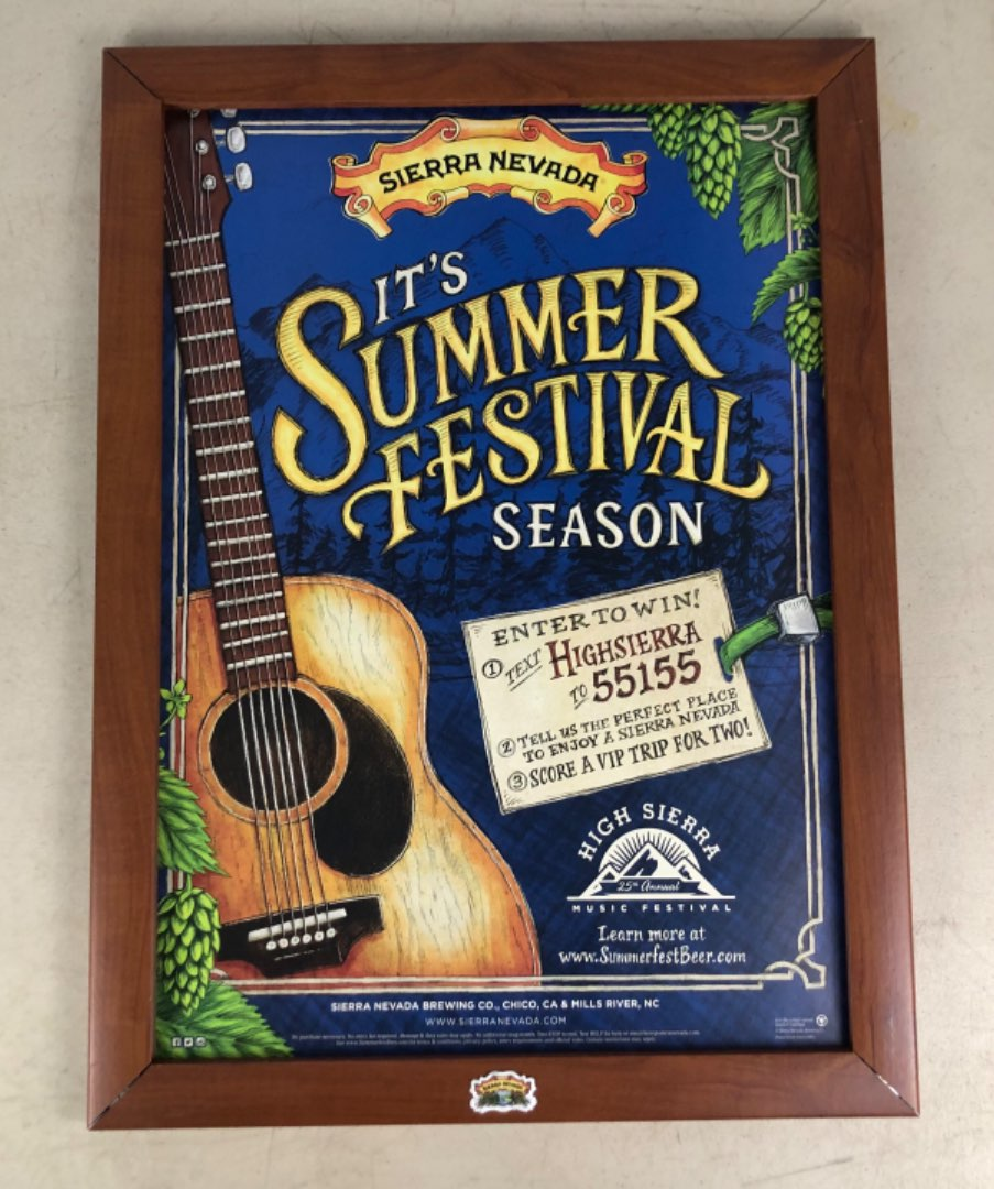 Lot # 62 -  Sierra Nevada Brewing Co. - Display Frame with multiple posters