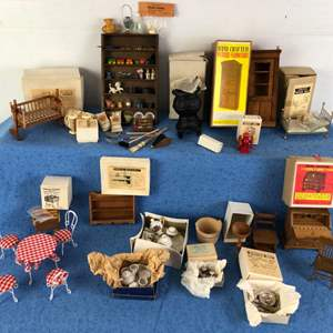 Lot # 68 - Miniature Dollhouse Furniture Pieces Lot 2 of 4