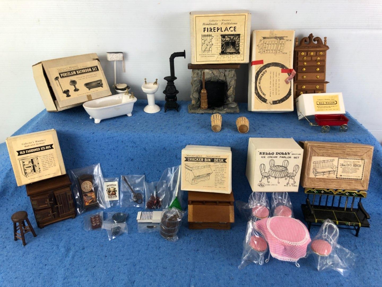 Lot # 69 - Miniature Dollhouse Furniture Pieces Lot 3 of 4