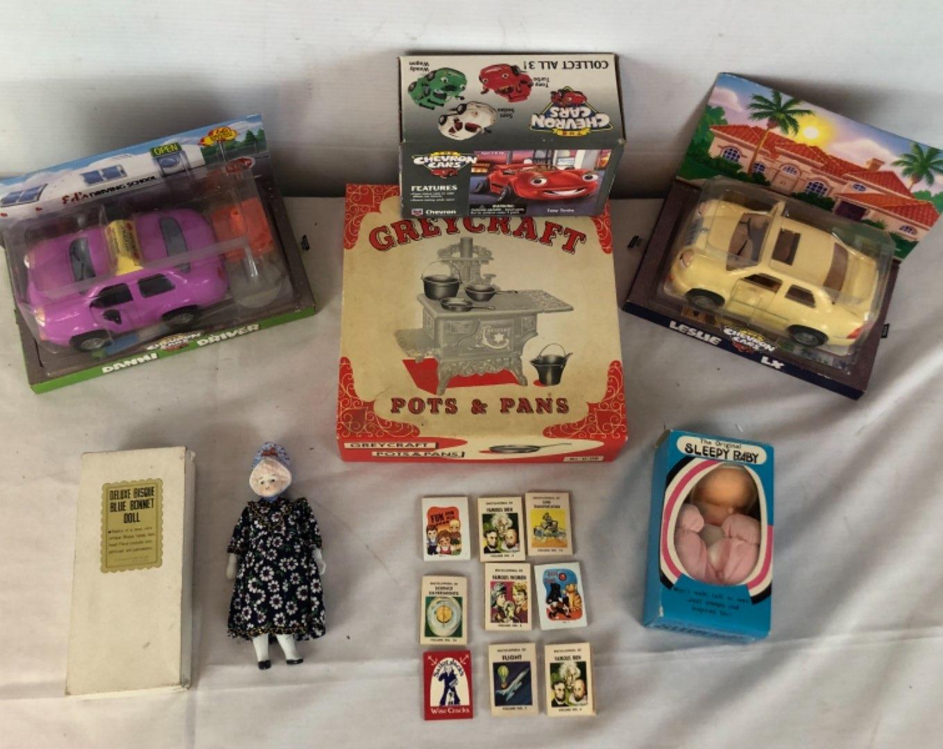 Lot # 128 - Vintage Collectibles - Cars, Dolls, Cracker Jack Prizes