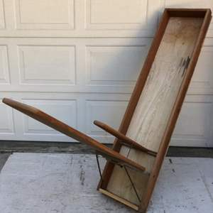 Lot # 130 - Wall Mount Vintage Ironing Board and 2 Vintage Office Chairs