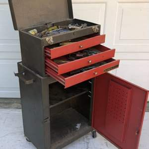 Lot # 131 - Rolling Tool Box with Tools