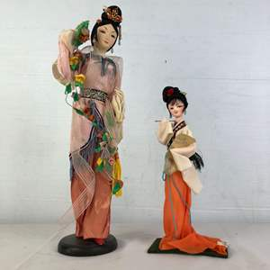 Lot # 153 - 2 Vintage Chinese Dolls