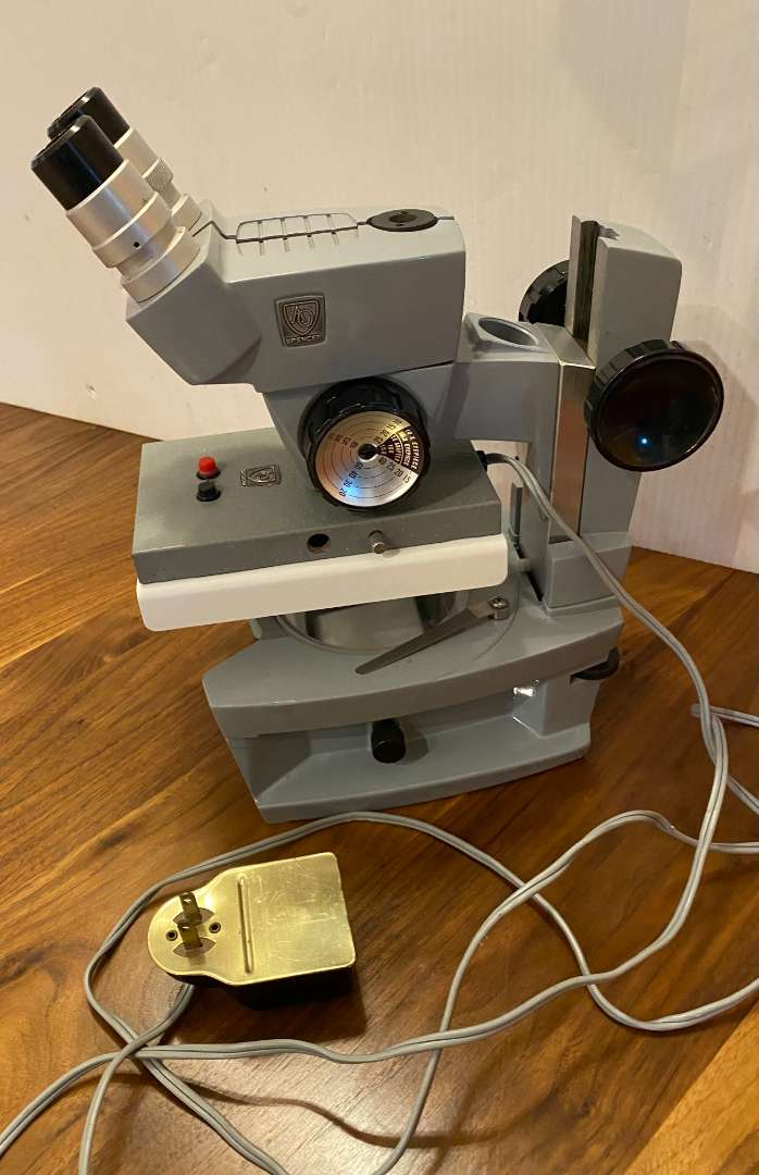 Lot # 178 - Spencer Binocular Microscope With Magni-Changer and Illuminator