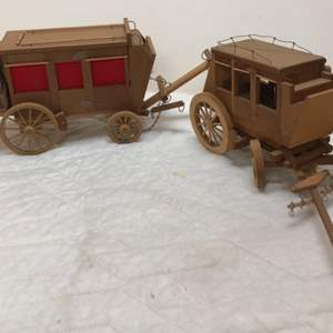 Lot # 180 - 2 Wood Stagecoaches One is a Light