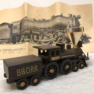 Lot # 190 - Train Themed Lighter with Ashtray and Train Poster