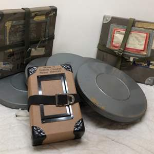 Lot # 191 - Reel to Reel tape and Containers, 3 Empty Boxes
