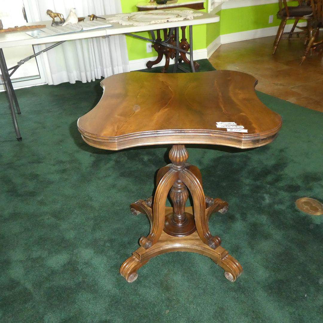 Lot # 104 - Antique Wooden Accent Table (main image)
