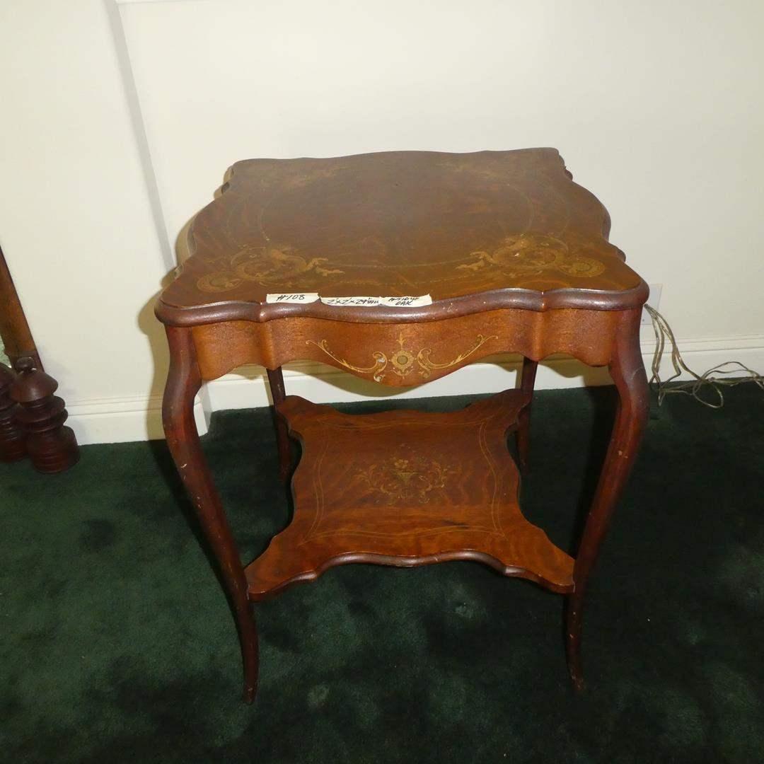 Lot # 108 - Fabulous Antique Oak Accent Side Table  (main image)