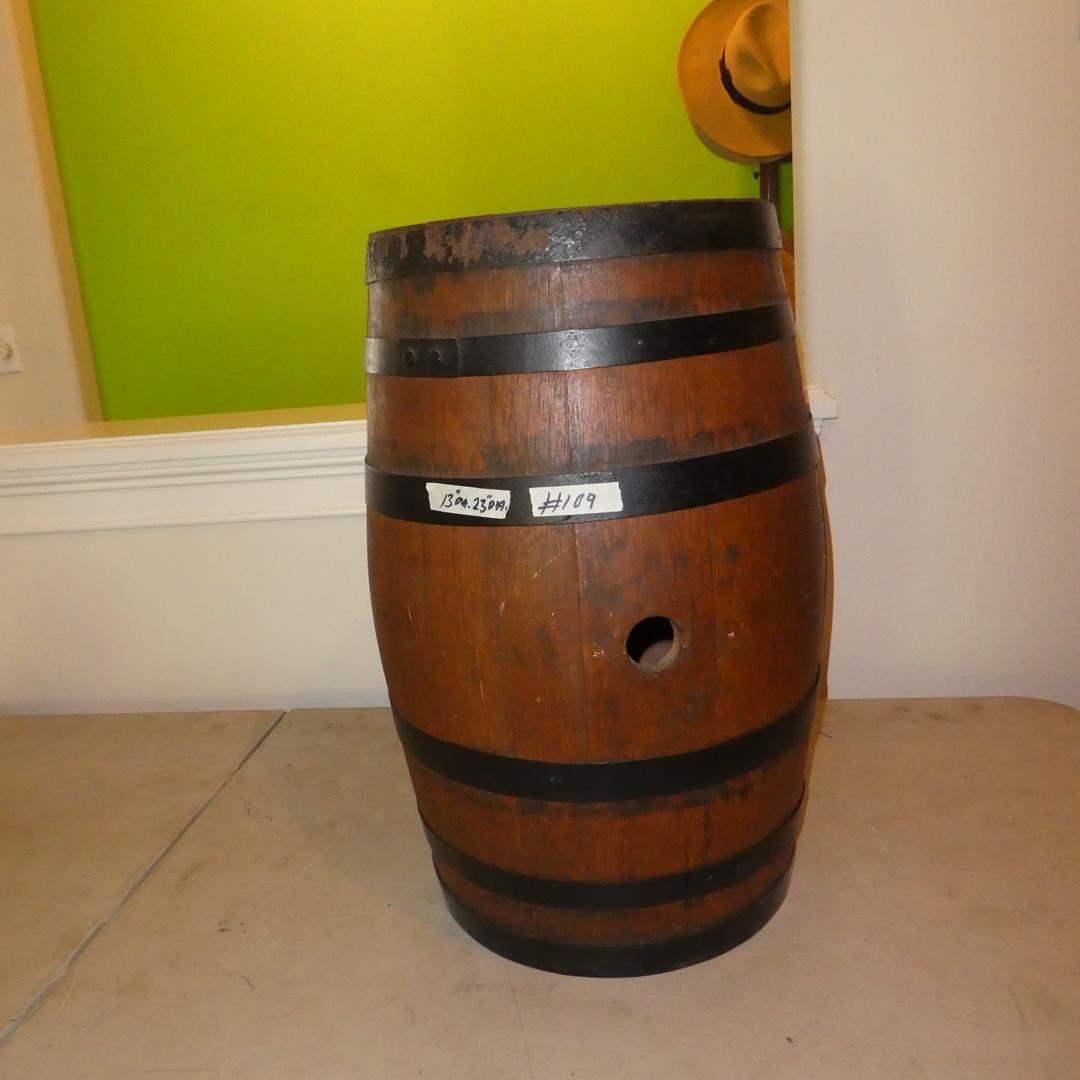Lot # 109 - Antique Whiskey Barrel (main image)