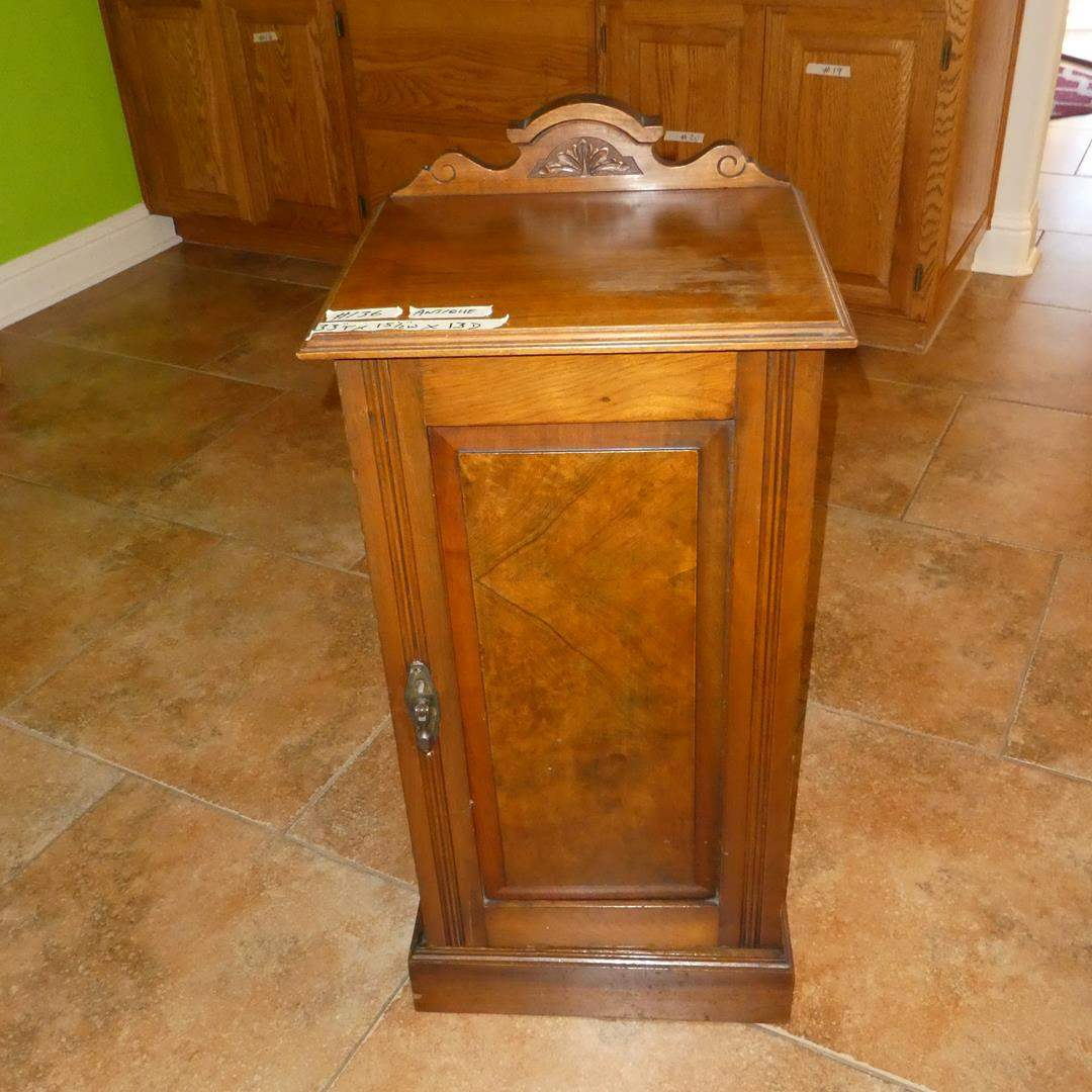 Lot # 136 - Small Antique Wooden Cabinet (main image)
