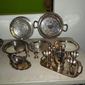 Lot # 137 - Vintage Silver Plate Serving Pieces