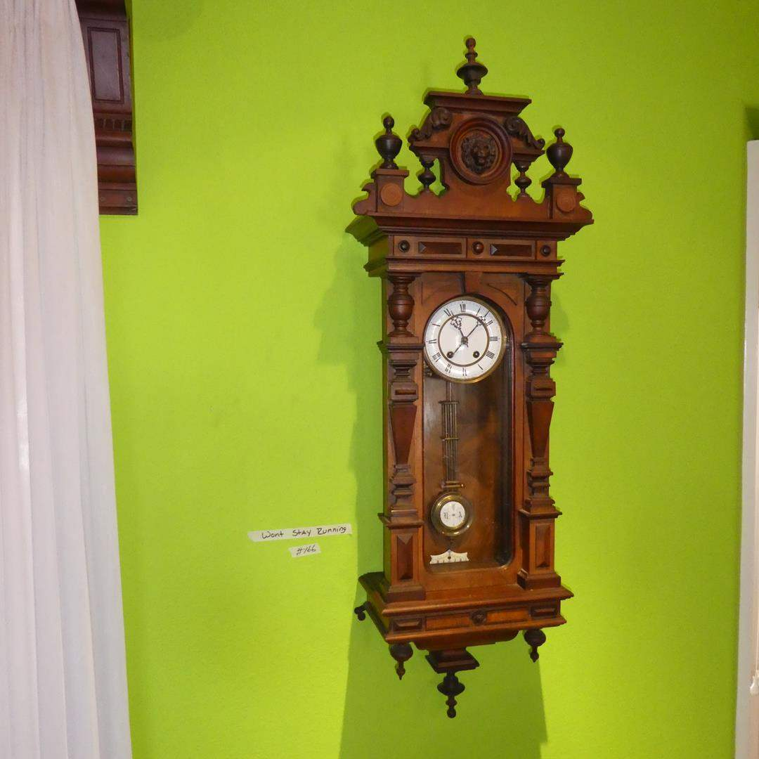Lot # 166 - Wonderful Antique Lenzkirch German Wall Clock - Won't Stay Running (main image)