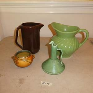 Lot # 174 - Vintage Roseville, Bauer, Red Wing & Fioriware Pottery