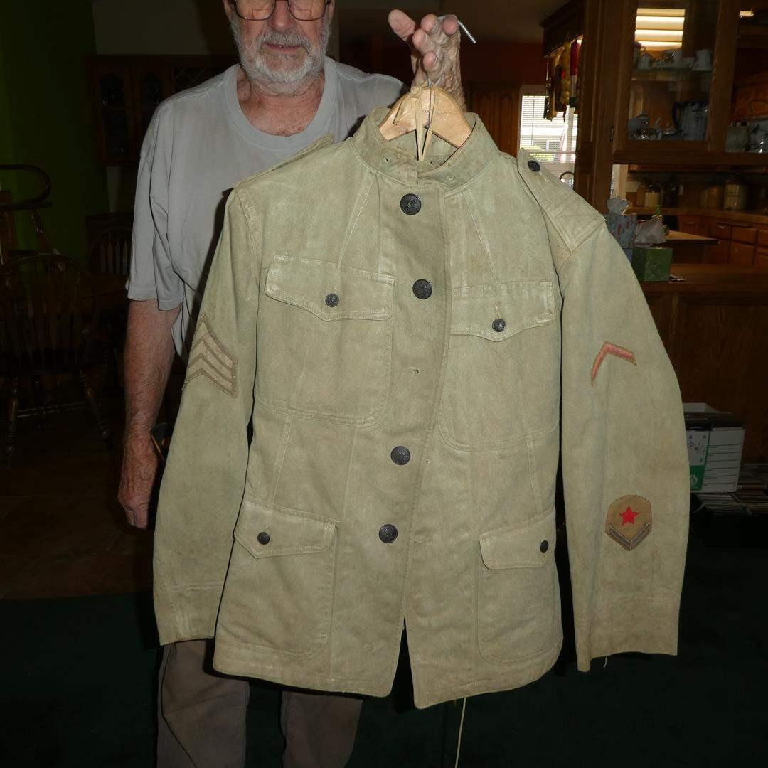 Lot # 177 - U.S.A. WWI Military Uniform w/Military ID (main image)