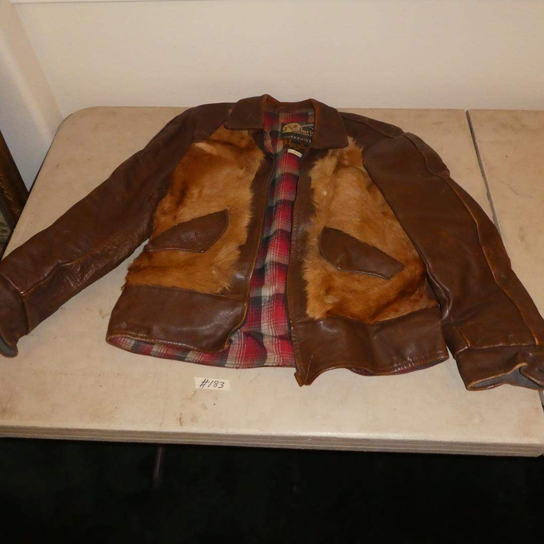Lot # 183 - Vintage Sterlings The Store For Men Victoria Sportswear Horsehide Bomber Jacket (main image)