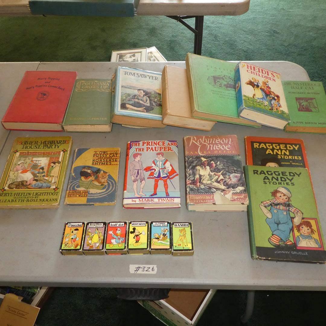 Lot # 326 - Antique & Vintage Children's Books & Disney Card Games (main image)