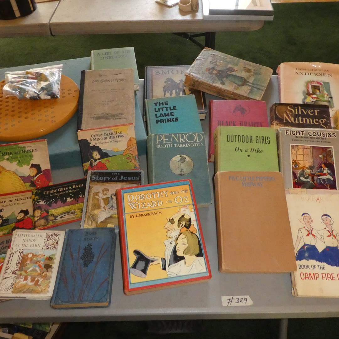 Lot # 329 - Vintage & Antique Books Collection, Chinese Checkers & Scrabble Game (main image)
