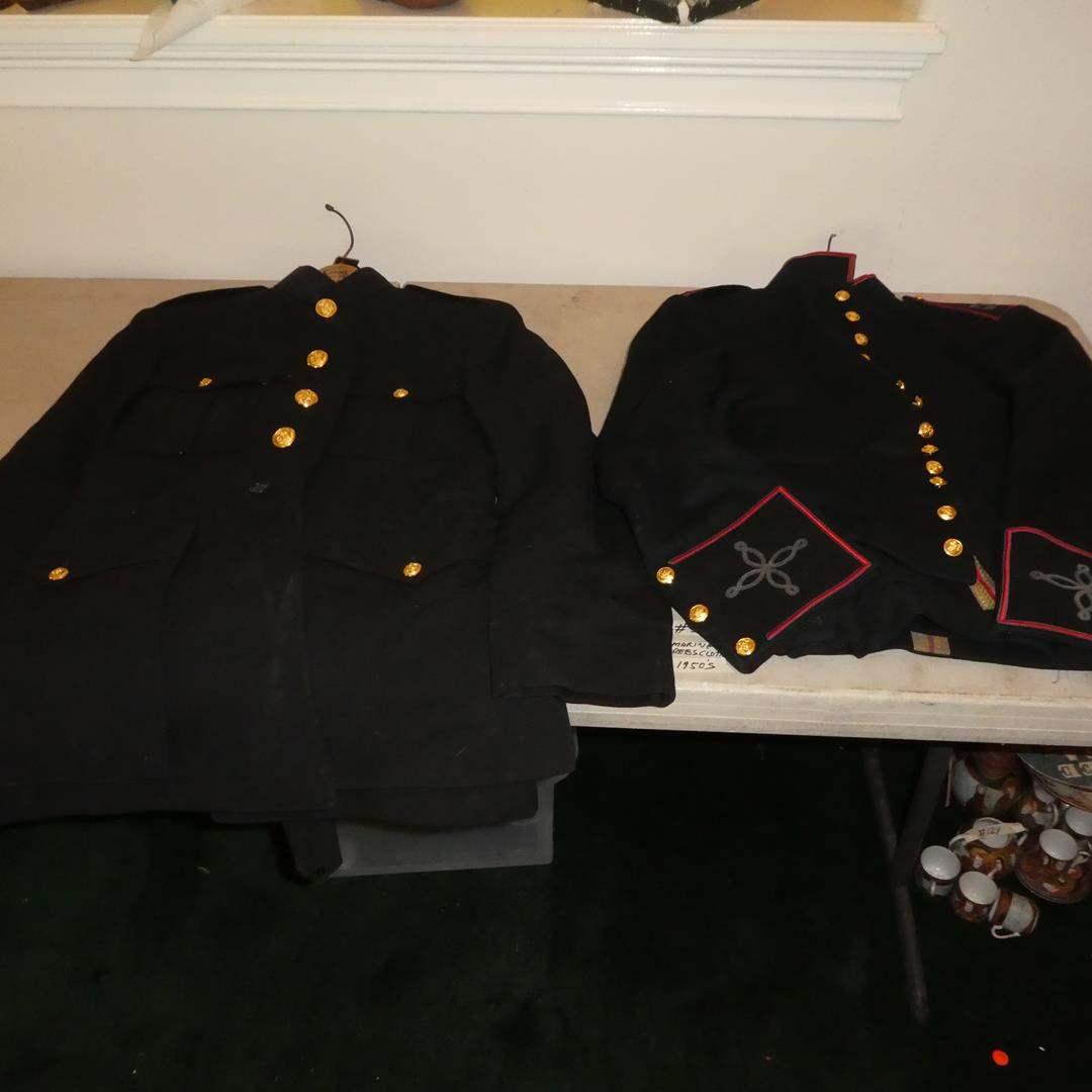 Lot # 331 - Vintage 1956 & 1963 Marine Dress Uniforms - Nice Condition (main image)