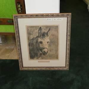 "Lot # 333 - Large Beautifully Framed Print ""An Humble Servant"" by Rosa Bonheur"