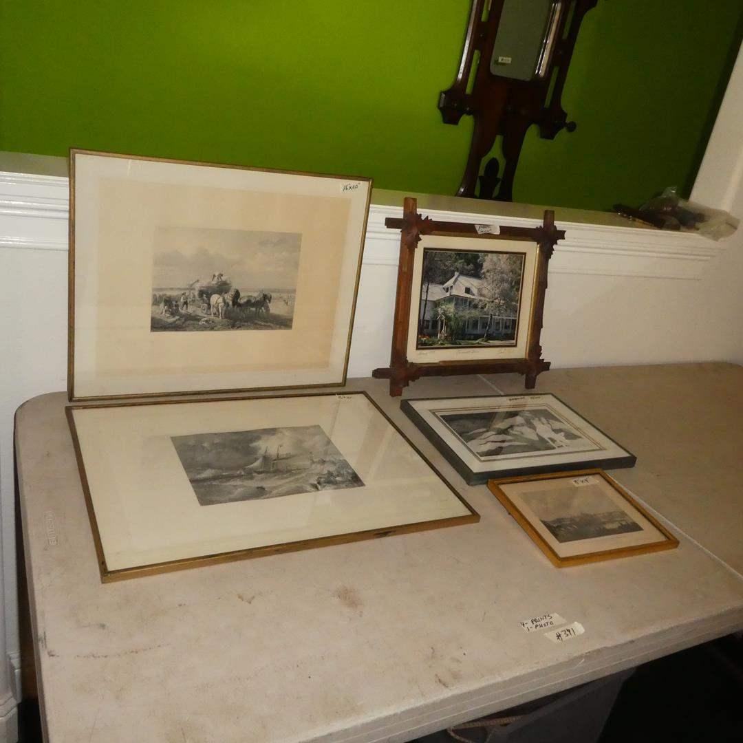 Lot # 341 - Four Framed Prints & Framed Photo (main image)