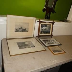 Lot # 341 - Four Framed Prints & Framed Photo
