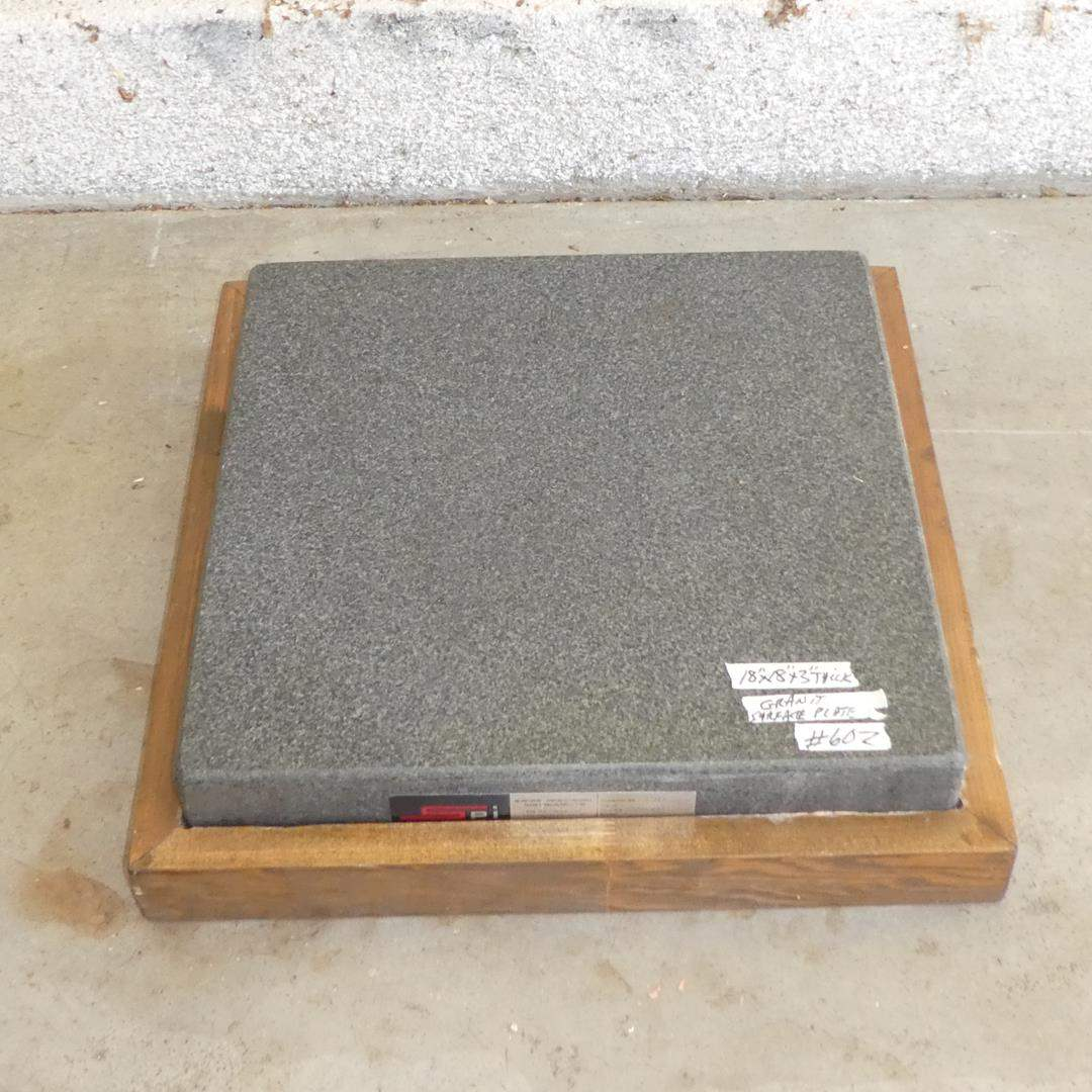 Lot # 602 - Swiss Precision Instruments Granite Surface Plate (main image)
