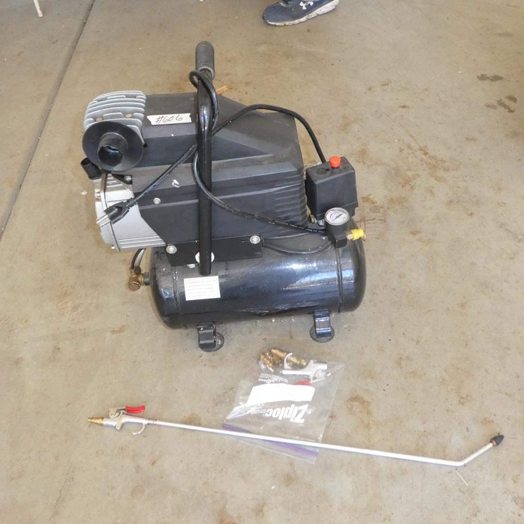 Lot # 606 - Small Air Compressor (main image)
