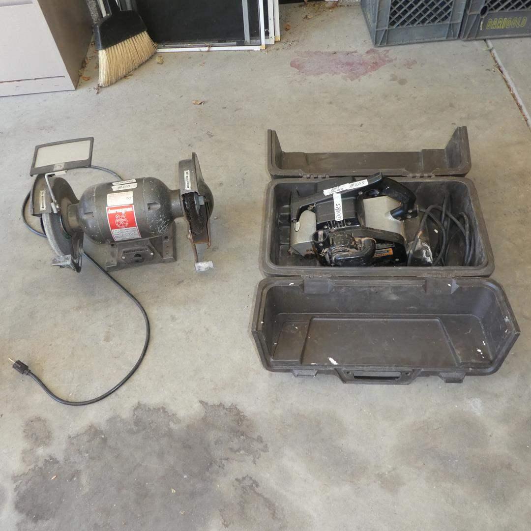 """Lot # 608 - Journeyman Electric Grinder & Craftsman Electric 4"""" Belt Sander (main image)"""