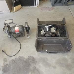 """Lot # 608 - Journeyman Electric Grinder & Craftsman Electric 4"""" Belt Sander"""