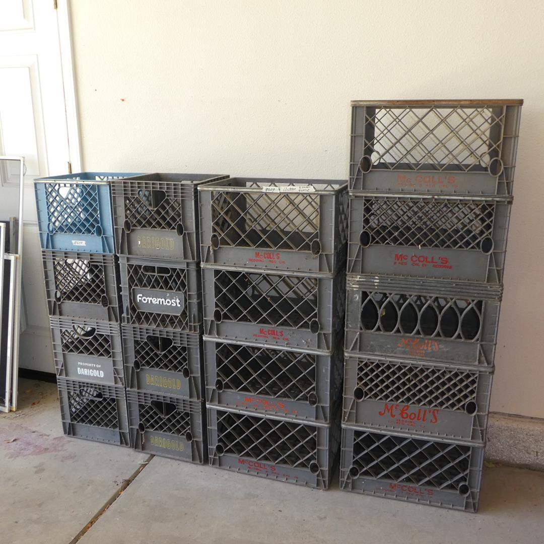 Lot # 609 - 17 Dairy Crates (main image)