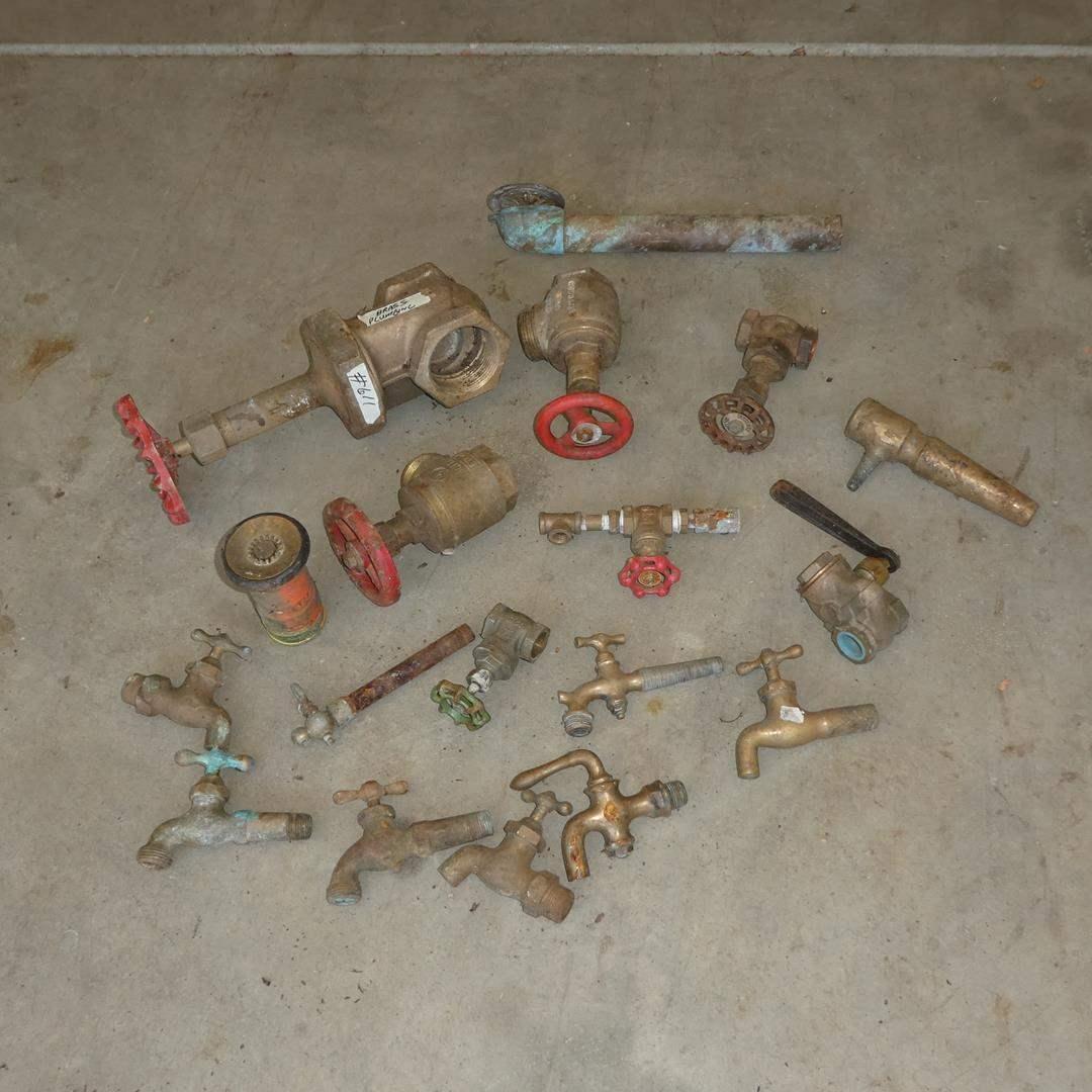 Lot # 611 - Vintage Brass Plumbing Fixtures (main image)