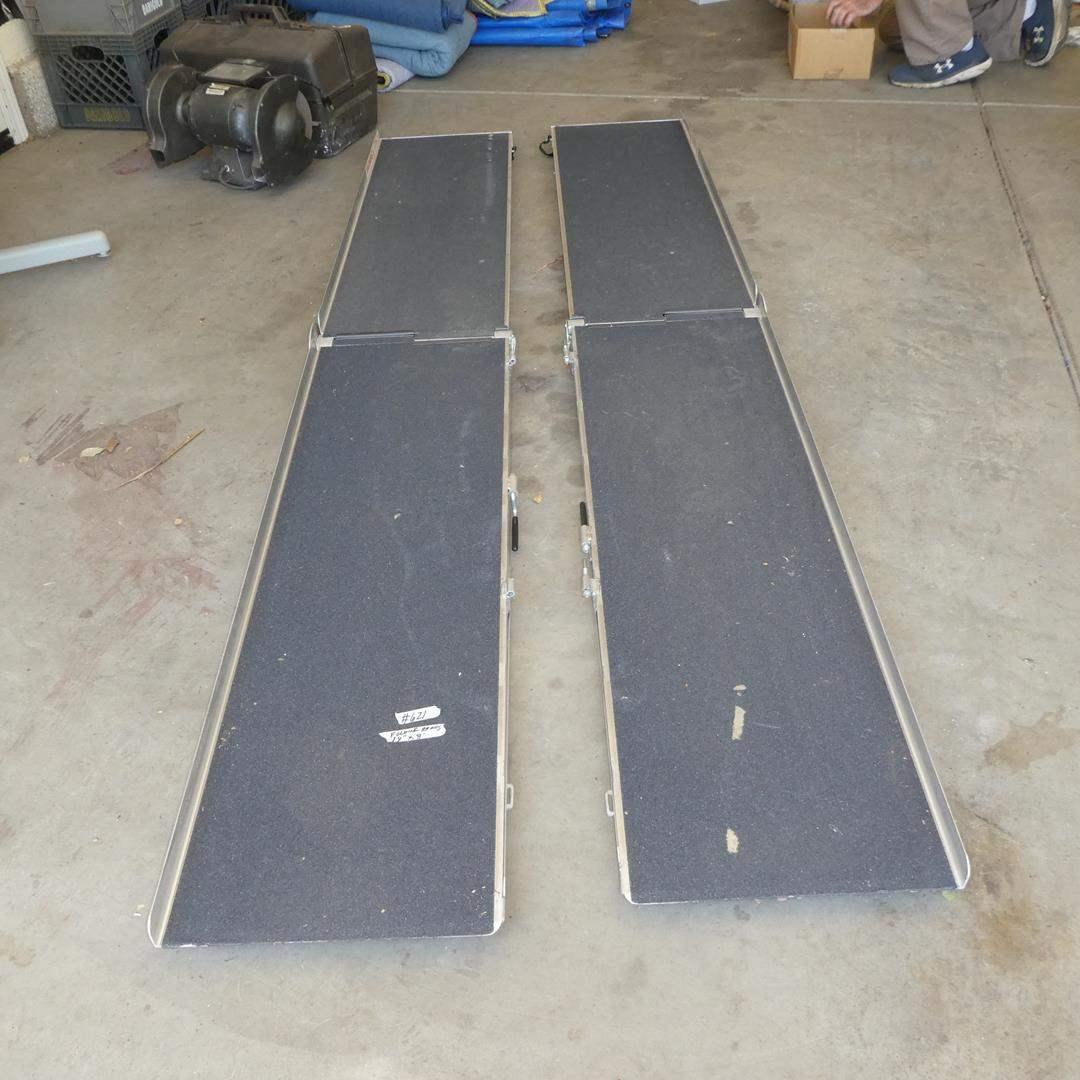 Lot # 621 - Pair Folding Aluminum Wheelchair Ramps (main image)