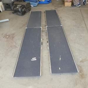 Lot # 621 - Pair Folding Aluminum Wheelchair Ramps