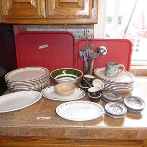Auction Thumbnail for: Lot # 1 - Ultima China Oval Plates, Tepco, Ironstone & Other Stoneware
