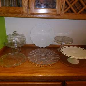 Lot # 18 - Cake Plates & Serving Dishes