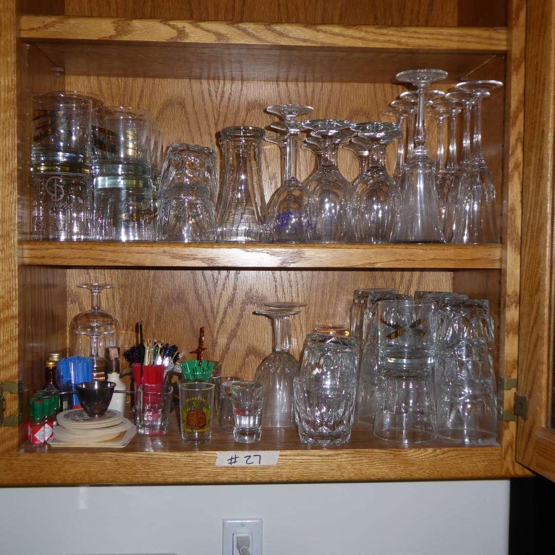 Lot # 27 - Bar Glasses & Stemware