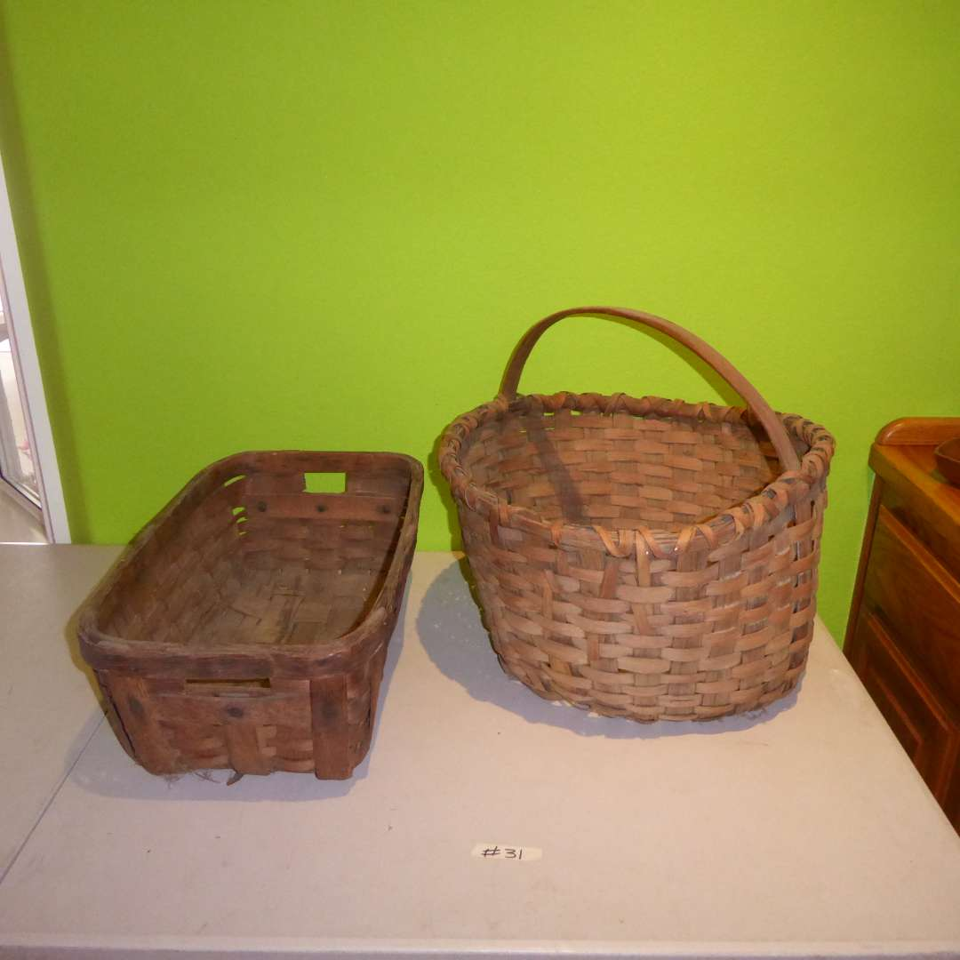Lot # 31 - Two Very Old Baskets (main image)