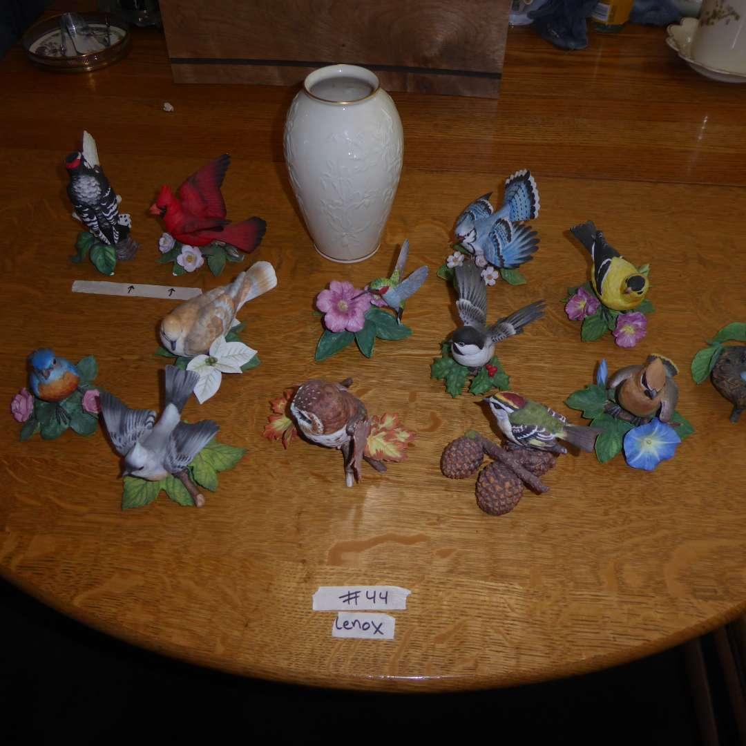 Lot # 44 - Lenox Vase & Lenox Porcelain Birds (main image)