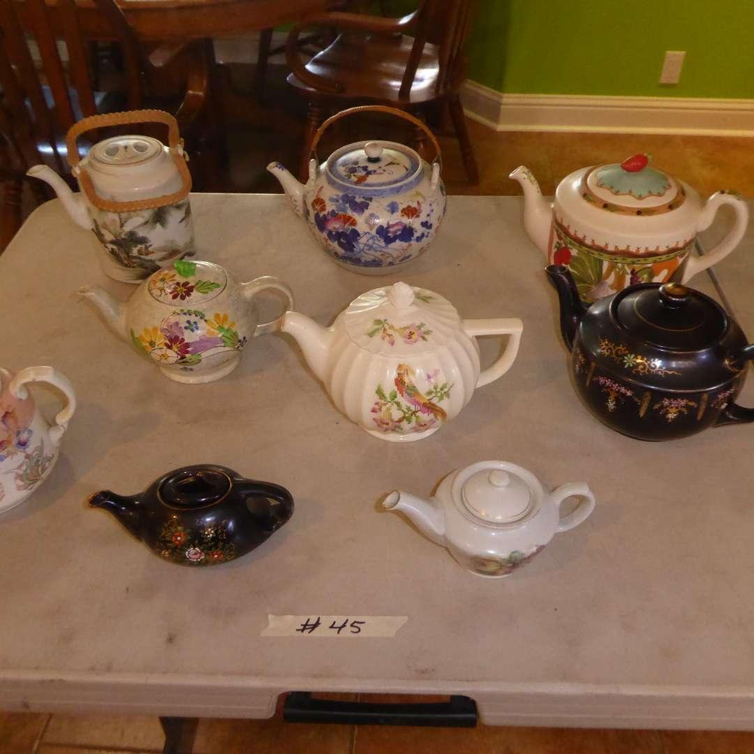 Lot # 45 - Porcelain & Ceramic Tea Pots (main image)