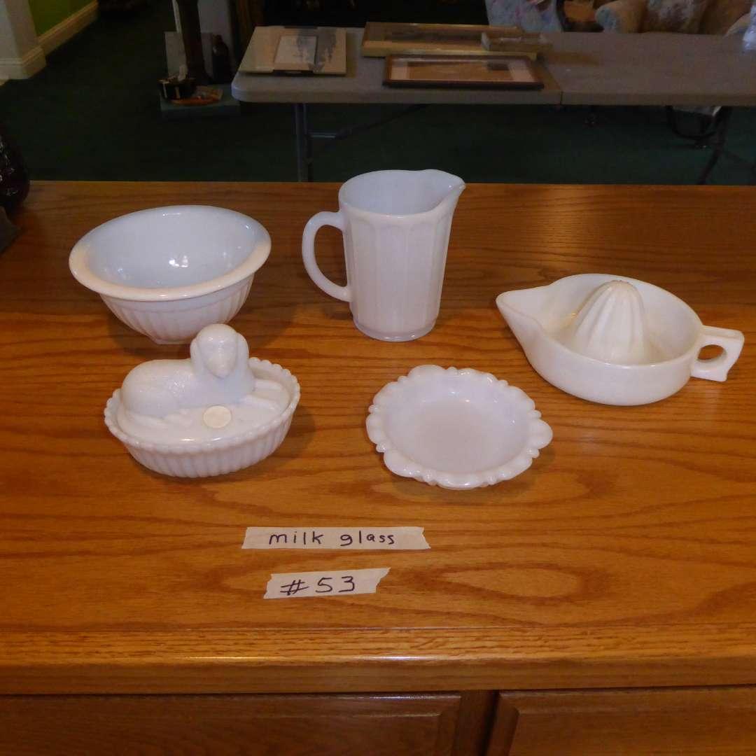Lot # 53 - Vintage Milk Glass (main image)