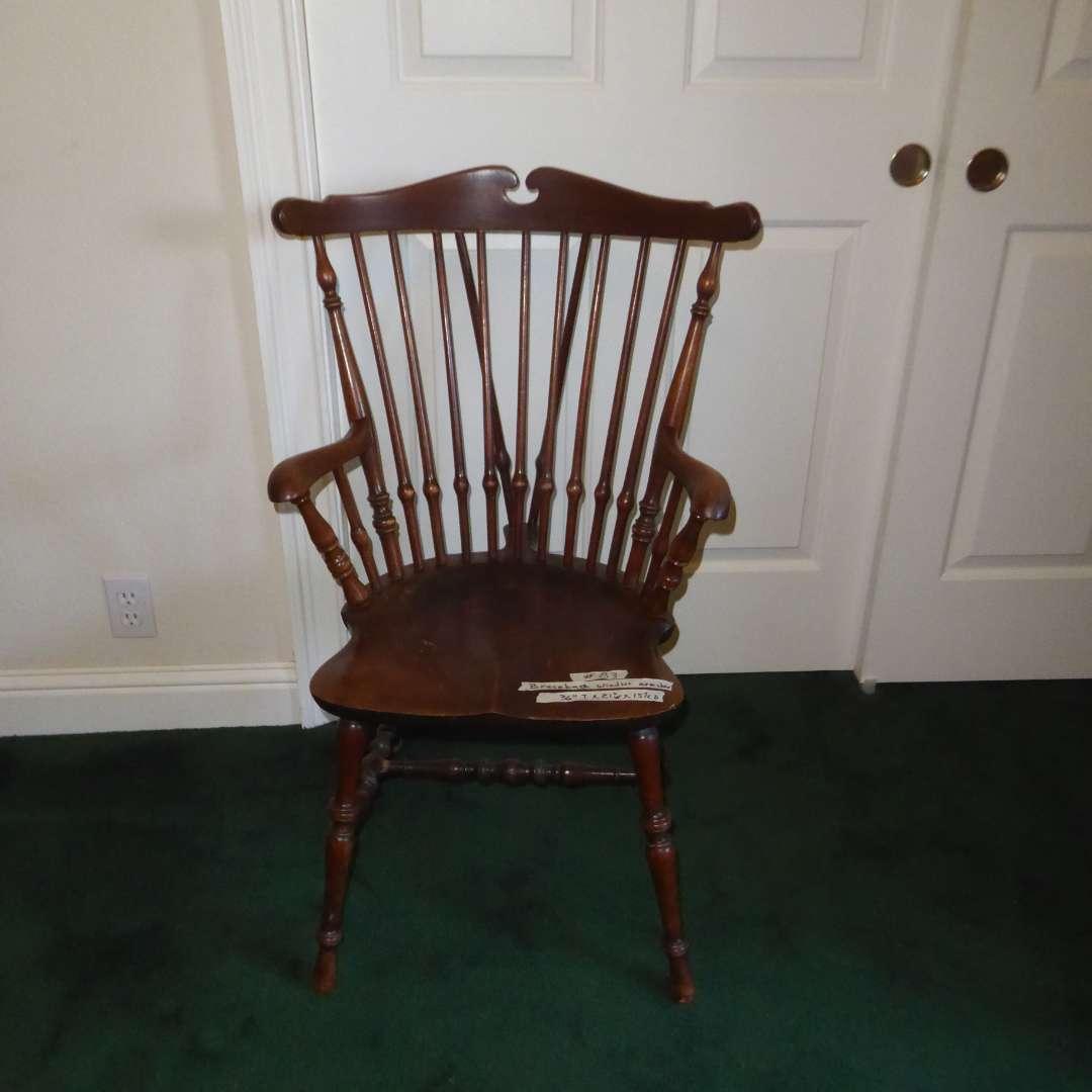 Lot # 83 - Brace Back Windsor Arm Chair