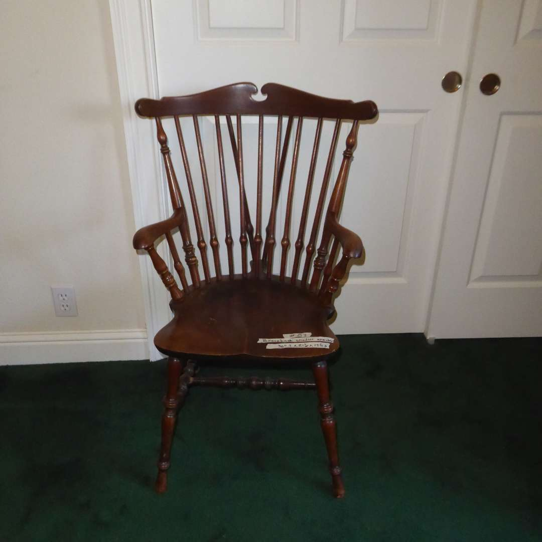 Lot # 83 - Brace Back Windsor Arm Chair (main image)