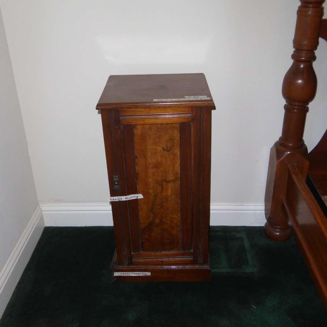 Lot # 86 - Cute Little Antique Cabinet (No Shelf) (main image)