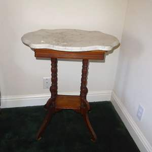 Lot # 87 - Small antique Marble Top Table