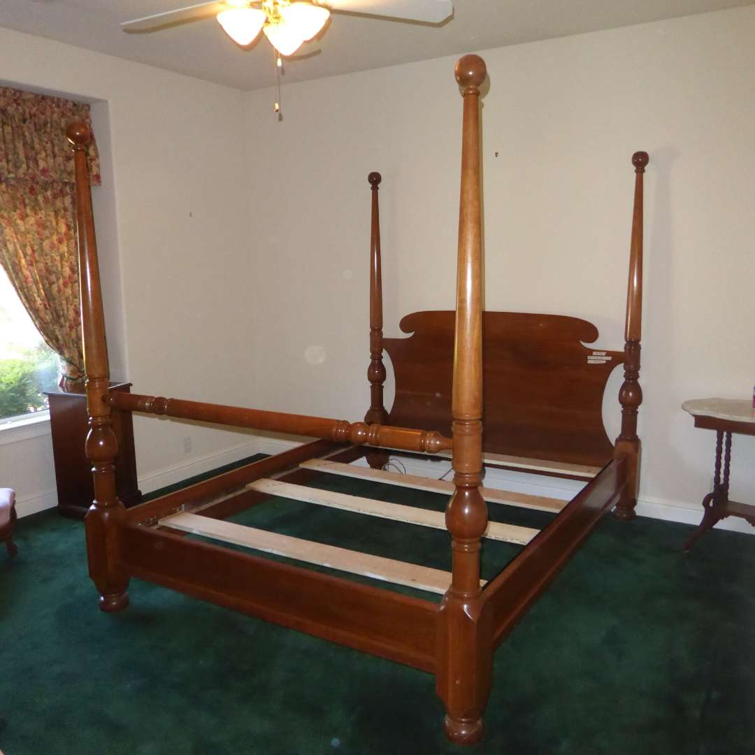 Lot # 91 - Beautiful Four Post Queen Bed Frame  (main image)