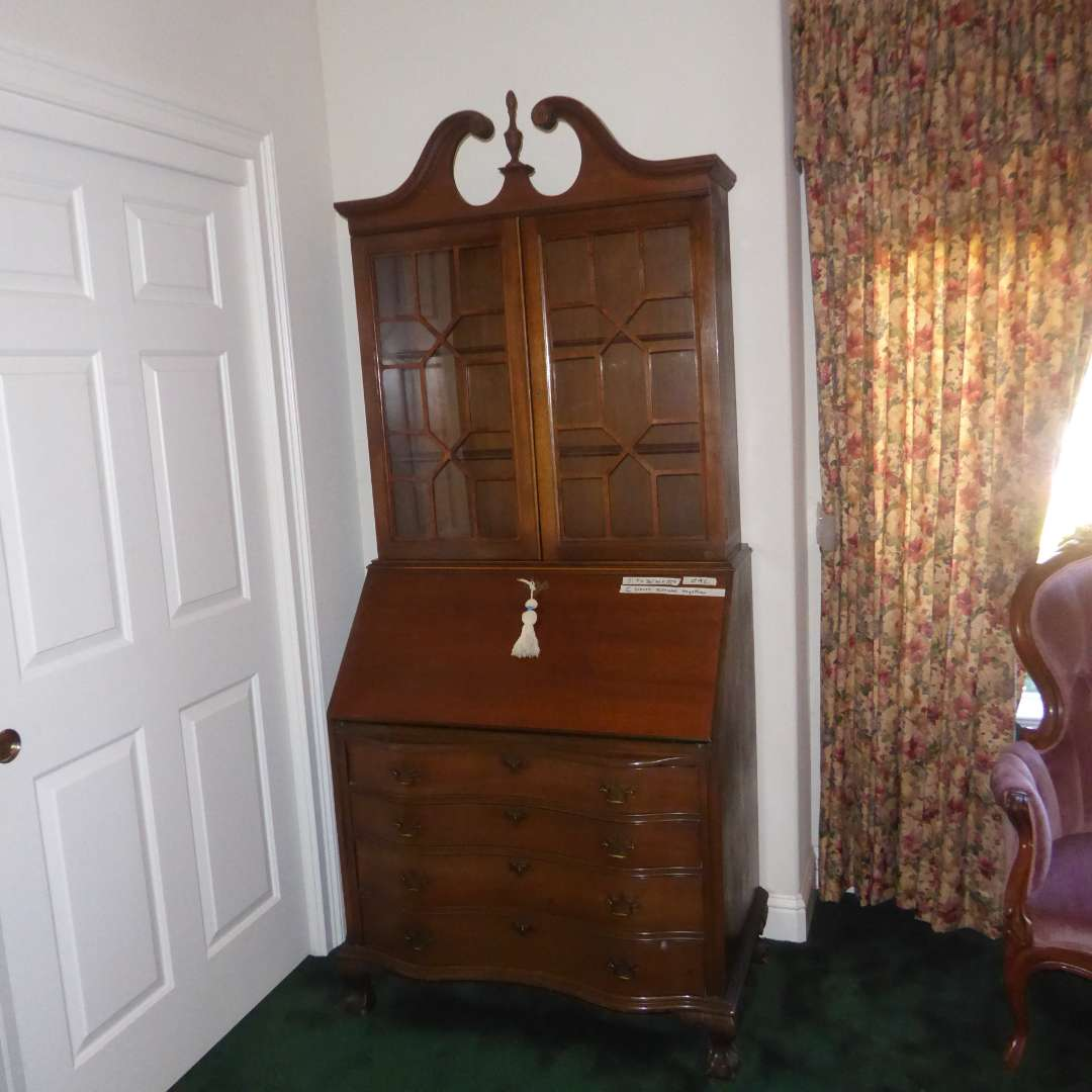Lot # 92 - Beautiful Antique Secretary Desk W/Key  (main image)