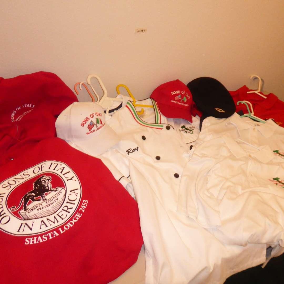Lot # 97 - Sons Of Italy Shirts & Hats  (main image)