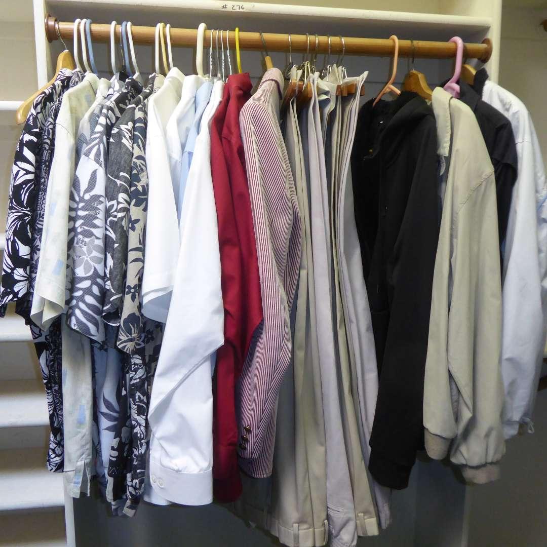 Lot # 276 - Men's Jackets, Slacks & Collared Shirts (main image)